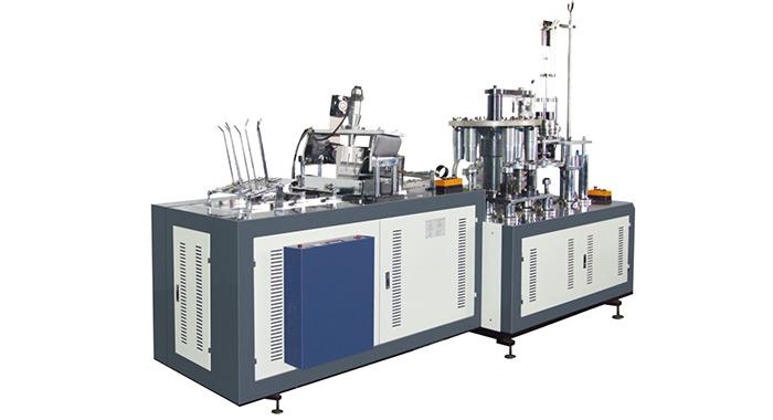 Máy làm cốc giấy hai đầu tốc độ cao, Model EBZ-09